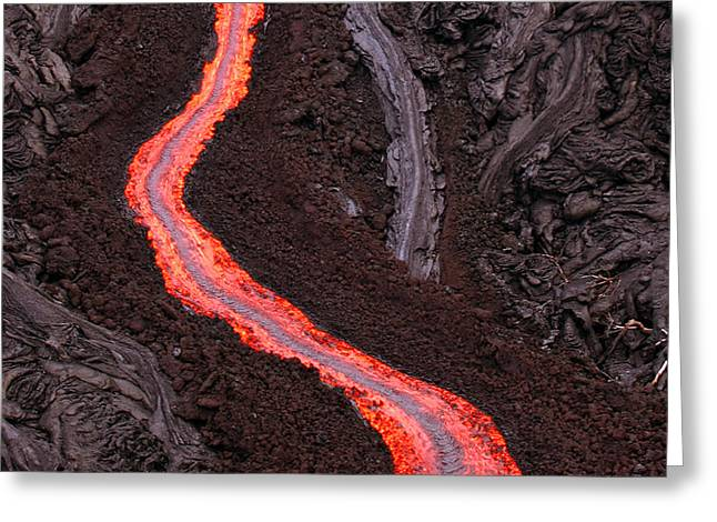 Aa Greeting Cards - Aa Lava Flow Greeting Card by Stephen & Donna O