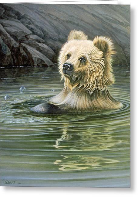 Wildlife Greeting Cards - Aaaaah Greeting Card by Paul Krapf