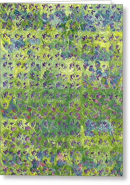 Violet Art Greeting Cards - Aaq993166 Greeting Card by Leigh Glover