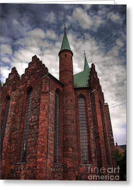 Aarhus Greeting Cards - Aarhus church HDR 02 Greeting Card by Antony McAulay