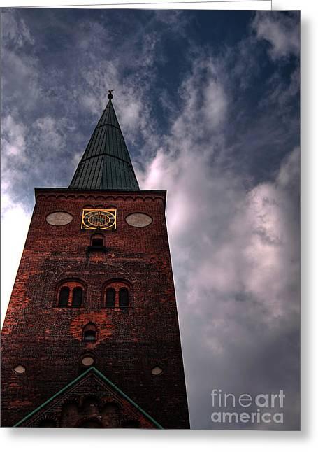 Aarhus Greeting Cards - Aarhus church HDR 05 Greeting Card by Antony McAulay
