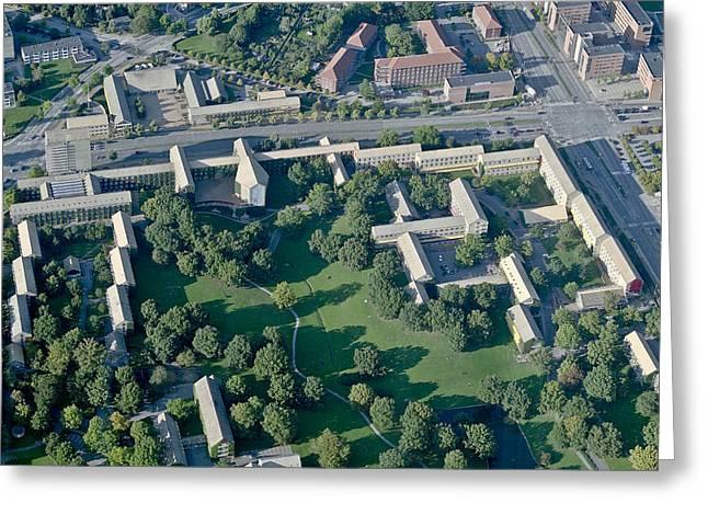 Latitude Greeting Cards - Aarhus University, Aarhus Greeting Card by Blom ASA