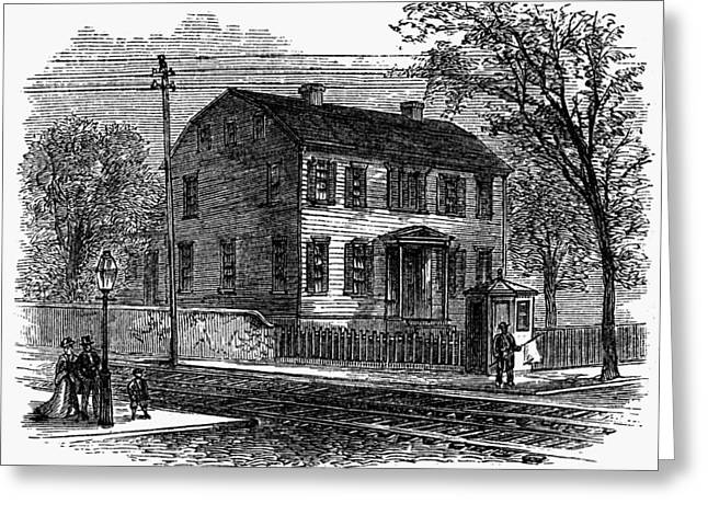Aaron Burr Birthplace Greeting Card by Granger