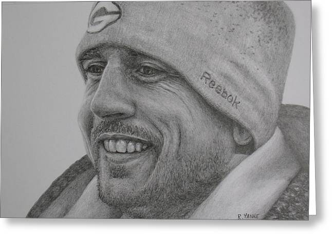 Reebok Greeting Cards - Aaron Rodgers1 Greeting Card by Rick Yanke