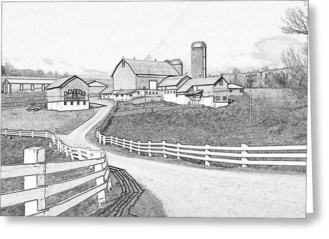 A.b. Cole Dairy Farm Greeting Card by David Simons