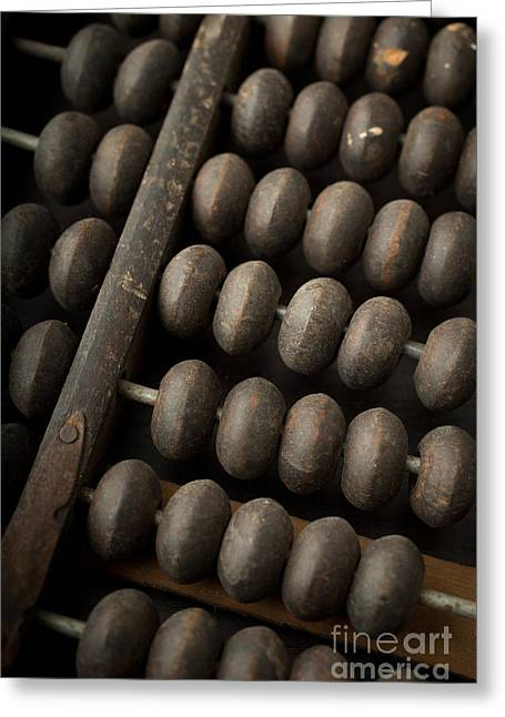 Add Greeting Cards - Abacus Greeting Card by Edward Fielding