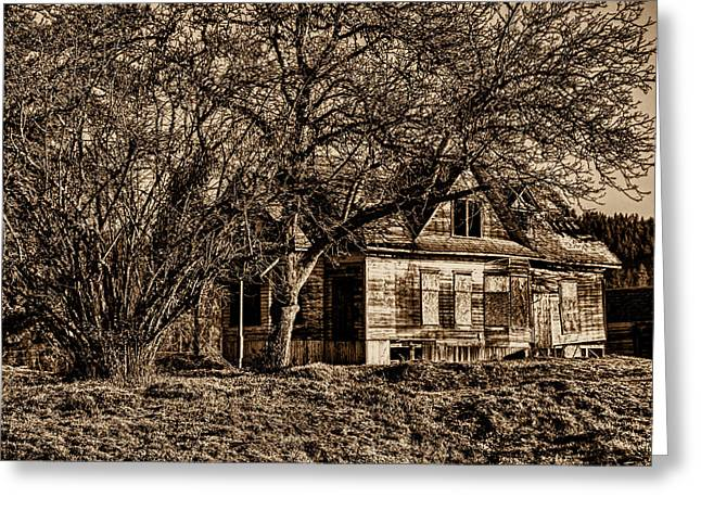 Ron Roberts Photography Greeting Cards - Abandon Farm House Greeting Card by Ron Roberts