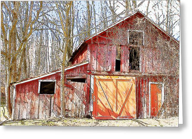 Barn Door Greeting Cards - Abandoned  Greeting Card by A New Focus Photography