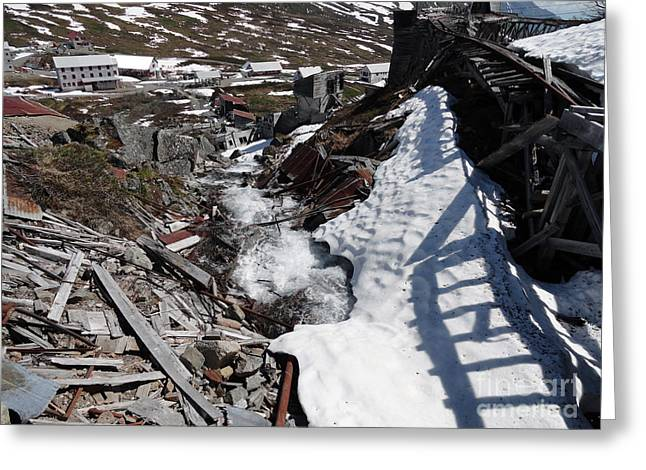 Alaskan Railroad Prints Greeting Cards - Abandoned Alaskan Gold Mine II Greeting Card by Danise Abbott