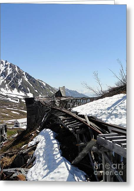 Alaskan Railroad Prints Greeting Cards - Abandoned Alaskan Gold Mine Track III Greeting Card by Danise Abbott