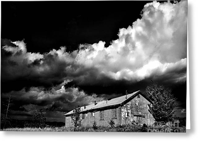 Haunted Shack Greeting Cards - Abandoned Greeting Card by Arne Hansen