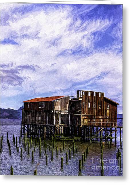 Metal Fish Art Photography Greeting Cards - Abandoned Astoria Cannery Greeting Card by Jean OKeeffe Macro Abundance Art