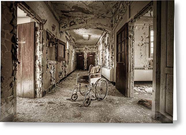 Haus Photographs Greeting Cards - Abandoned asylums - what has become Greeting Card by Gary Heller