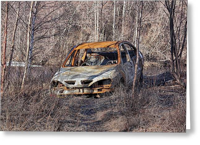 Abandoned Cars Greeting Cards - Abandoned Auto Greeting Card by Mountain Dreams