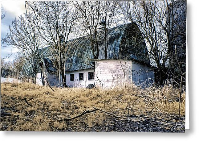 Distraught Greeting Cards - Abandoned barn Greeting Card by Cindy Archbell