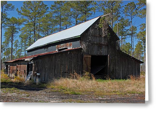 Tobacco Barns Greeting Cards - Abandoned Barn III Greeting Card by Suzanne Gaff
