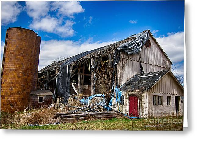 Old Barns Greeting Cards - Abandoned barn in Walpack  Greeting Card by Robert Wirth