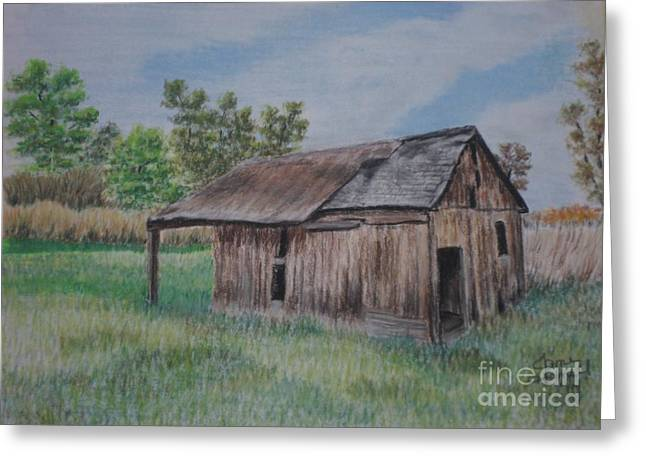Old Barn Pastels Greeting Cards - Abandoned Barn Greeting Card by Jane Hazell