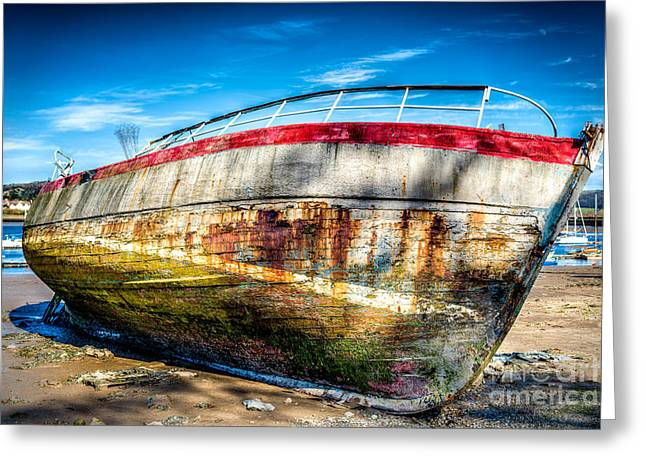 Abandoned Digital Art Greeting Cards - Abandoned Boat Greeting Card by Adrian Evans