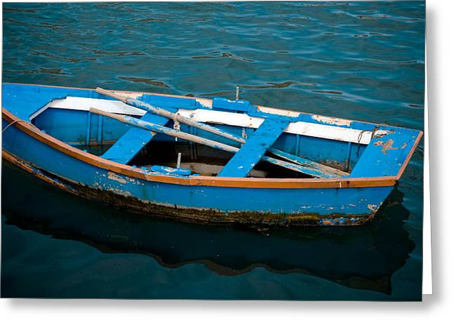 Left Alone Greeting Cards - Abandoned Boat Greeting Card by Frank Tschakert