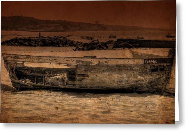 Ocean Sailing Greeting Cards - Abandoned Boat II Greeting Card by Marco Oliveira