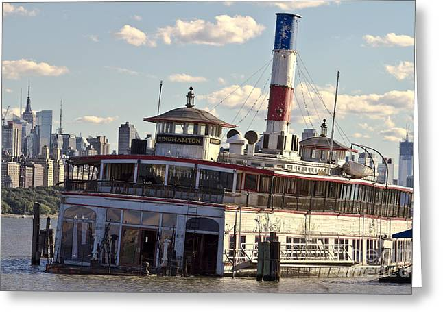 Empty Greeting Cards - Abandoned boat on the Hudson River Greeting Card by Robert Wirth