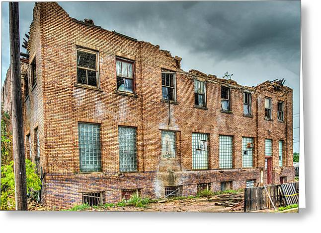 Abandoned Brick Building Greeting Card by Paul Freidlund