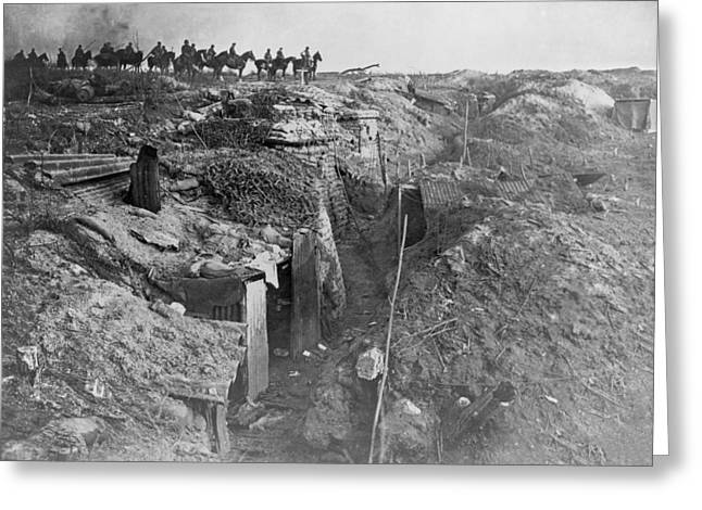 Surveying Greeting Cards - Abandoned British trench, World War I Greeting Card by Science Photo Library