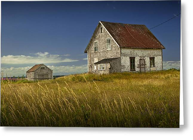 Randy Greeting Cards - Abandoned buildings along the coast on Prince Edwards Island Greeting Card by Randall Nyhof