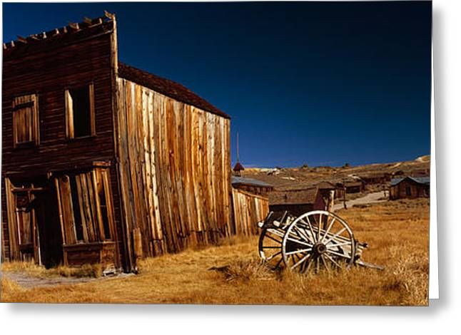 Residential Structure Greeting Cards - Abandoned Buildings On A Landscape Greeting Card by Panoramic Images