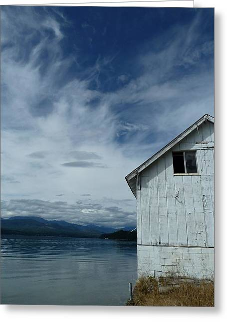 Buildings By The Sea Greeting Cards - Abandoned by the Water Greeting Card by Patricia Strand