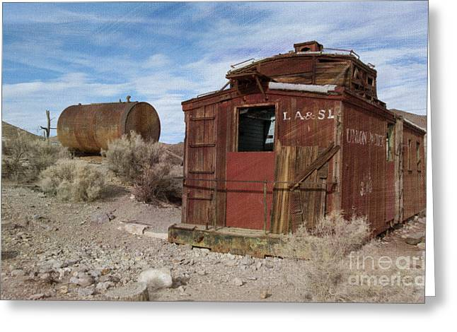 Disused Greeting Cards - Abandoned Caboose Greeting Card by Juli Scalzi