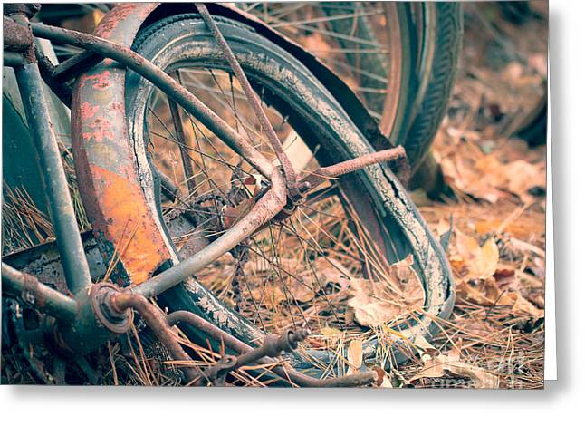 Rusted Cars Greeting Cards - Abandoned Greeting Card by Caisues Photography