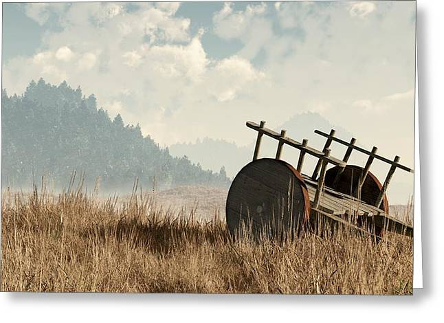 Abandoned Cart Greeting Card by Daniel Eskridge