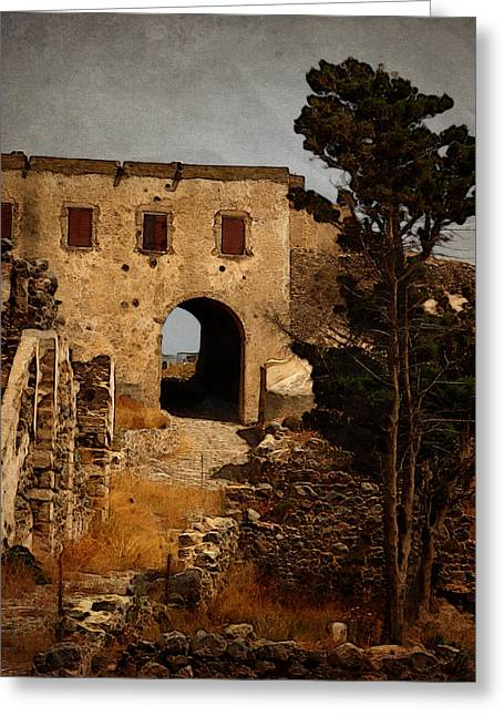 Abandoned Castle Greeting Card by Christo Christov