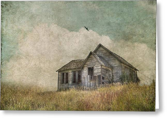 Prairie Landscape Greeting Cards - Abandoned Greeting Card by Juli Scalzi