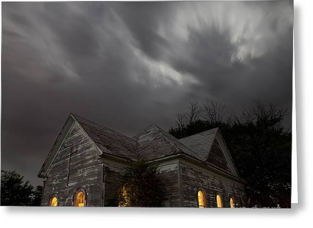 Abandoned Structures Greeting Cards - Abandoned Church of Walters Oklahoma Greeting Card by Keith Kapple