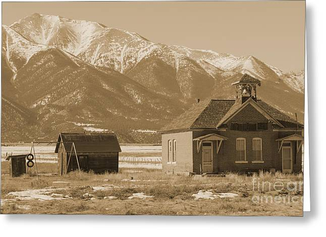 Red School House Greeting Cards - Abandoned Colorado School House Greeting Card by Janice Rae Pariza