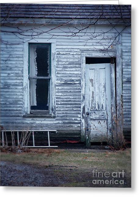 Clapboard House Greeting Cards - Abandoned Cottage Greeting Card by Jill Battaglia