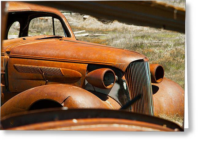 Mudguard Greeting Cards - Abandoned decaying vintage car Greeting Card by Celso Diniz