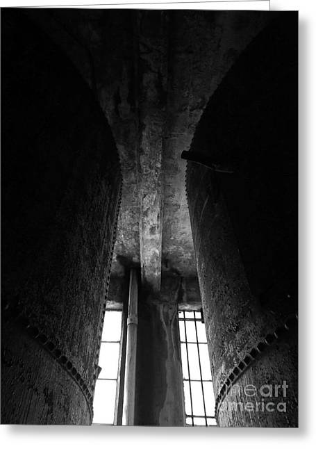 Abandoned Denaturing Tanks II - Bw Greeting Card by James Aiken