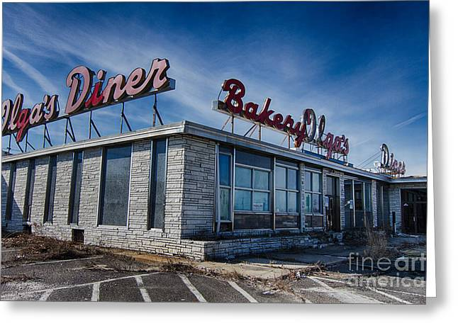 Empty Greeting Cards - Abandoned diner Greeting Card by Robert Wirth
