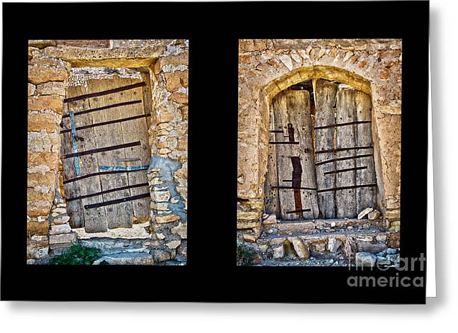 Abandoned Houses Greeting Cards - Abandoned diptych Greeting Card by Delphimages Photo Creations
