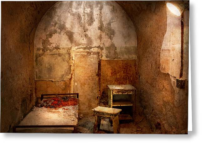 Abandoned - Eastern State Penitentiary - Life sentence Greeting Card by Mike Savad