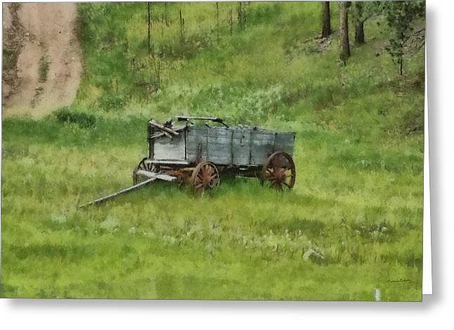 Old Wagons Greeting Cards - Abandoned Greeting Card by Ernie Echols
