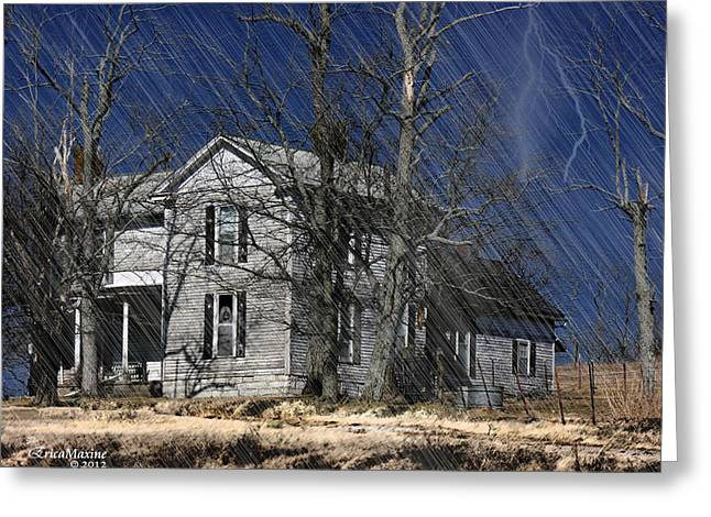 Tn Digital Art Greeting Cards - Abandoned Except For Ghosts Greeting Card by EricaMaxine  Price