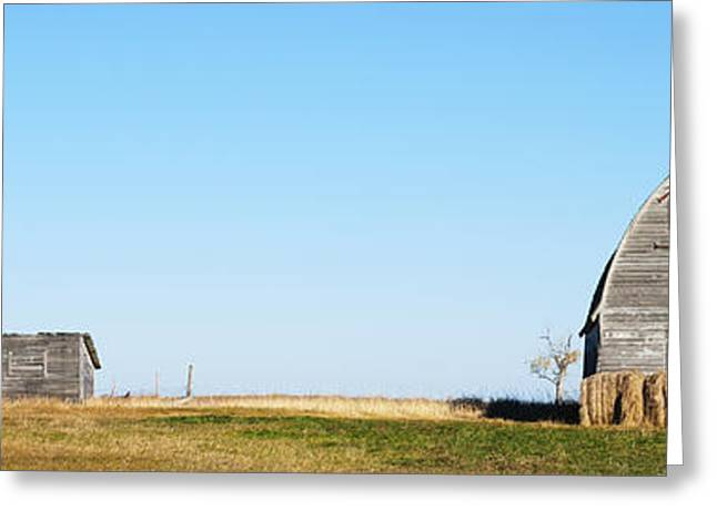 Sheds Greeting Cards - Abandoned Farm Building Greeting Card by Donald  Erickson