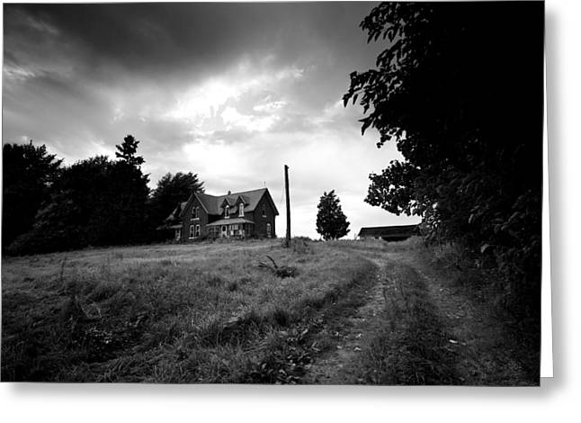 White Farm Greeting Cards - Abandoned Farm Home Greeting Card by Cale Best