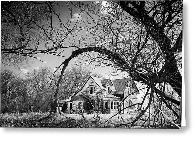 Abandoned Houses Greeting Cards - Abandoned Farm House Greeting Card by Donald  Erickson