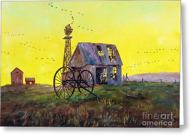 Barn Door Greeting Cards - Abandoned  Farm Greeting Card by Lee Piper
